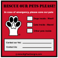 Pet Emergency Window Cling - Save My Pet